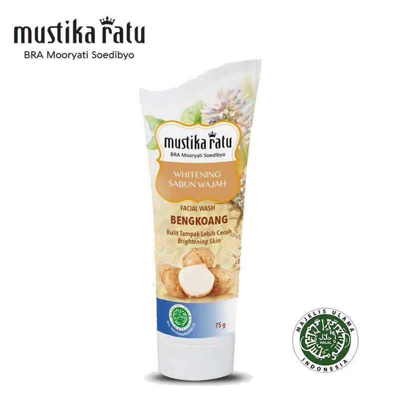 Mustika Ratu Bengkoang Whitening Series Facial Soap (with scrub) 75ml