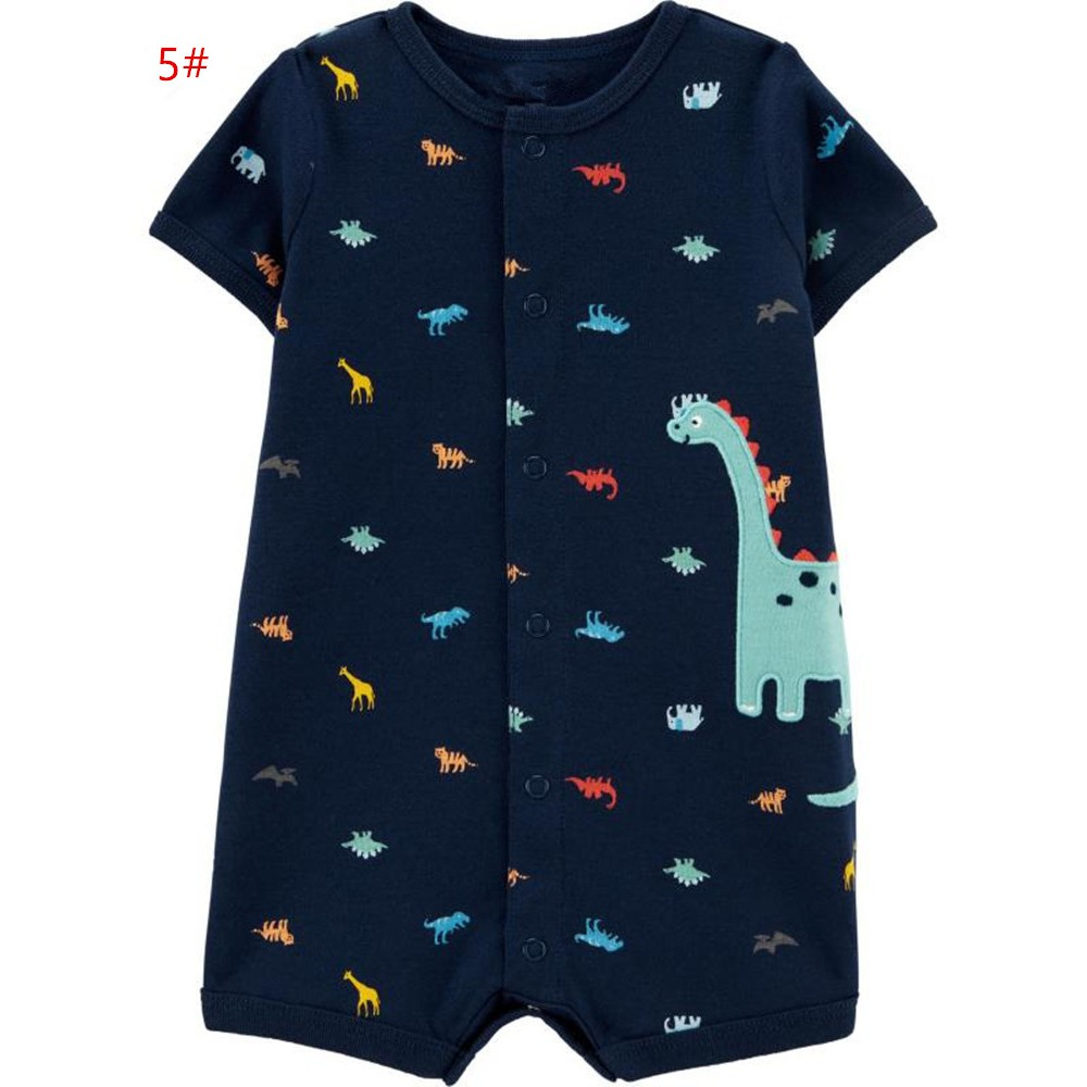 Baby Boy Baby Girl Hooded Bodysuit One Piece Dinosaur Pattern Cotton Clothes Boys Girls Clothing Sets Romper Long Sleeve