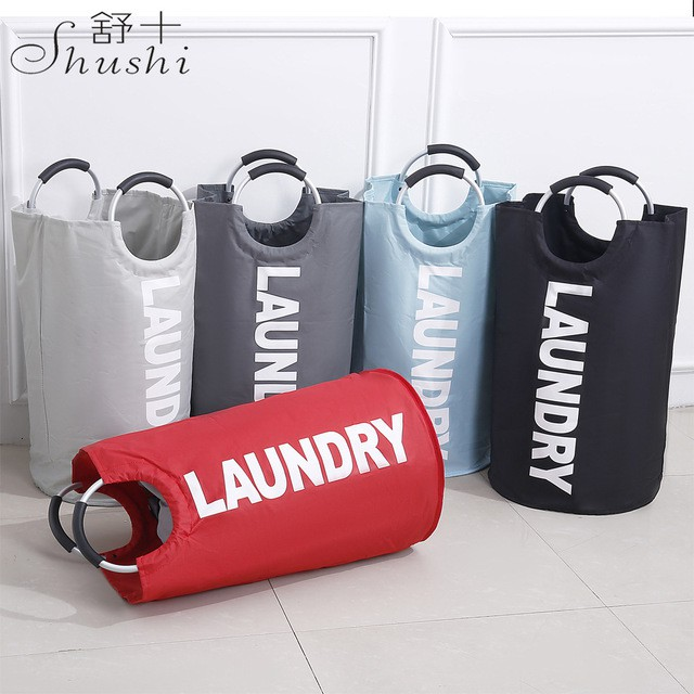 [Ready Stock] Oxford Foldable Laundry Basket 72L Capacity Housekeeping Organizer[SHIP LOCAL]