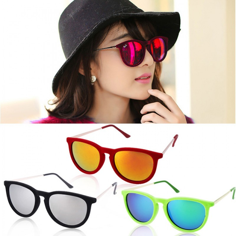 5ee3bdd255 FINEJO 80 s Vintage Style Classic Round Steampunk Sunglasses ...