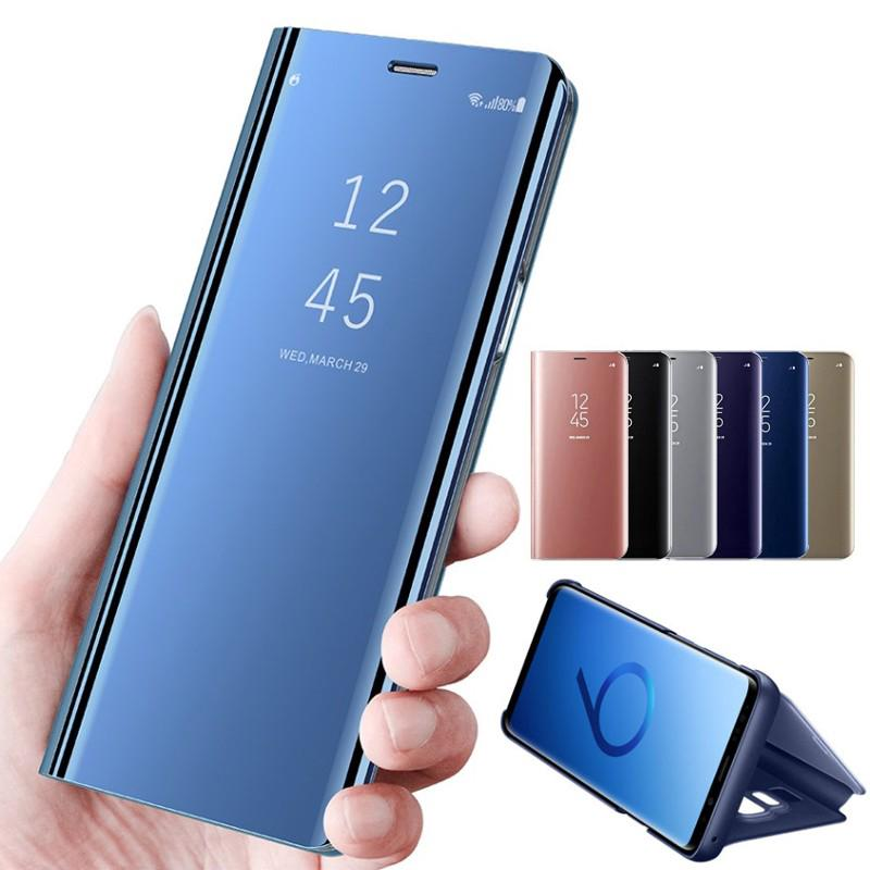 quality design d22ce 37498 Samsung A5 2018 and A7 2018 Case Smart View Flip Mirror Cover with Stand
