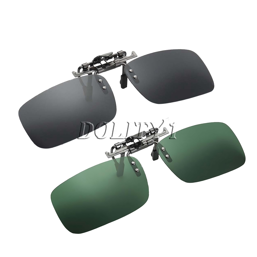 Prettyia 3x Clip On Flip Up Sunglasses UV400 Myopia Lens for Driving Fishing