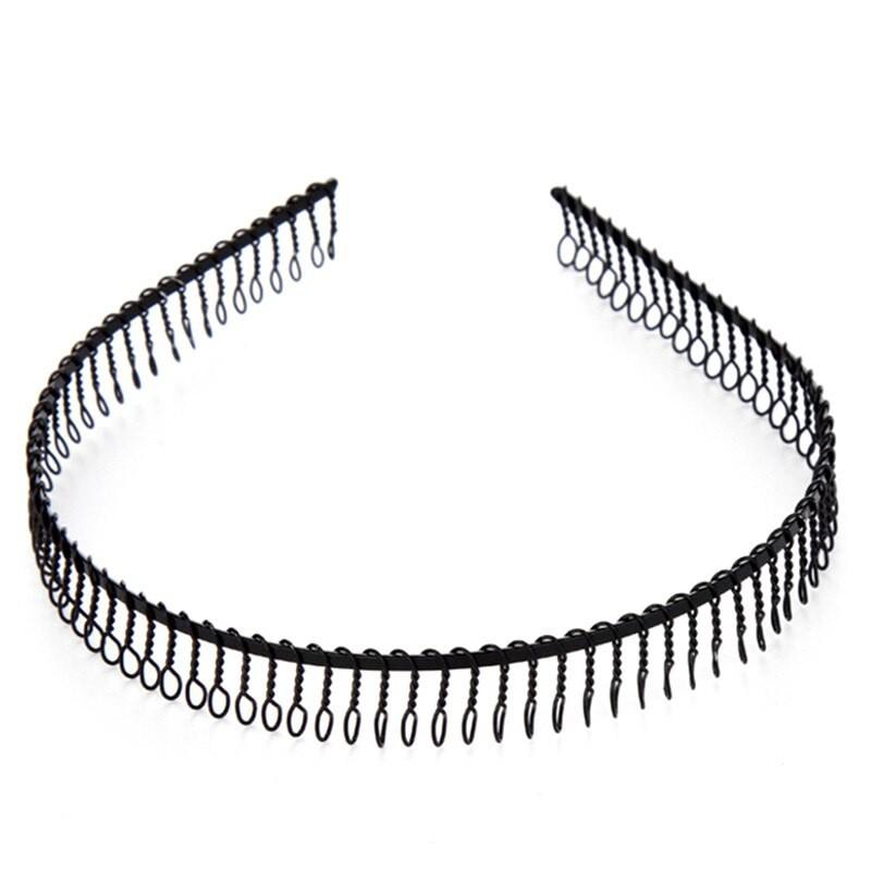 5 Fashion Unisex Metal Black Flexible Spiral Coil Wire Headbands