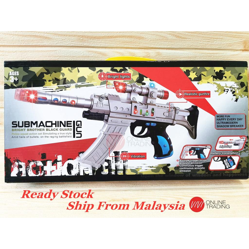 Submachine Gun Toys Gun For Children With Light And Sound Shopee Malaysia
