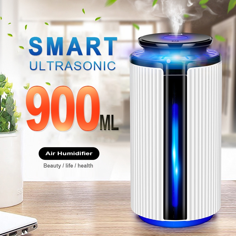 Nice Rechargeable 880ml Air Humidifier 3d Moon Lamp Usb Air Freshen Night Light For Home Aroma Essential Oil Diffuser Purifier Liquid Home