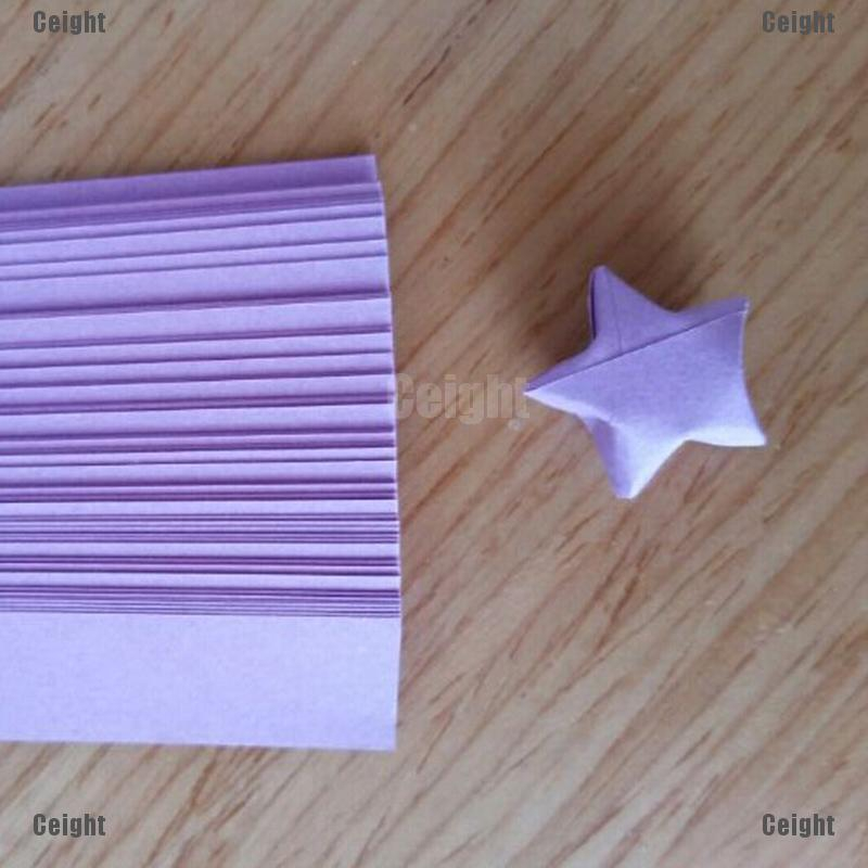 Funny Origami Lucky Star Paper Strips Folding Paper Ribbons Colors 80pcs \
