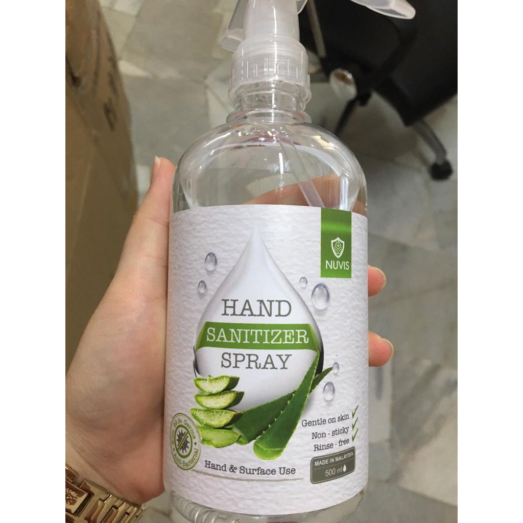 READY STOCK NUVIS HAND SANITIZER SPRAY 500ML ( HAND & SURFACE USE )