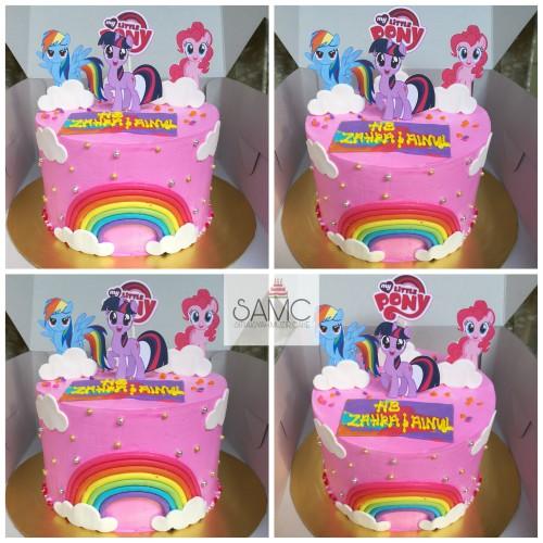 Kek My Litlle Pony Pink Birthday Cake Kek Hari Jadi Shopee Malaysia