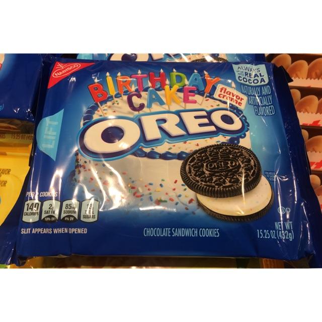 Brilliant Oreo Birthday Cake Imported Snacks Shopee Malaysia Funny Birthday Cards Online Benoljebrpdamsfinfo