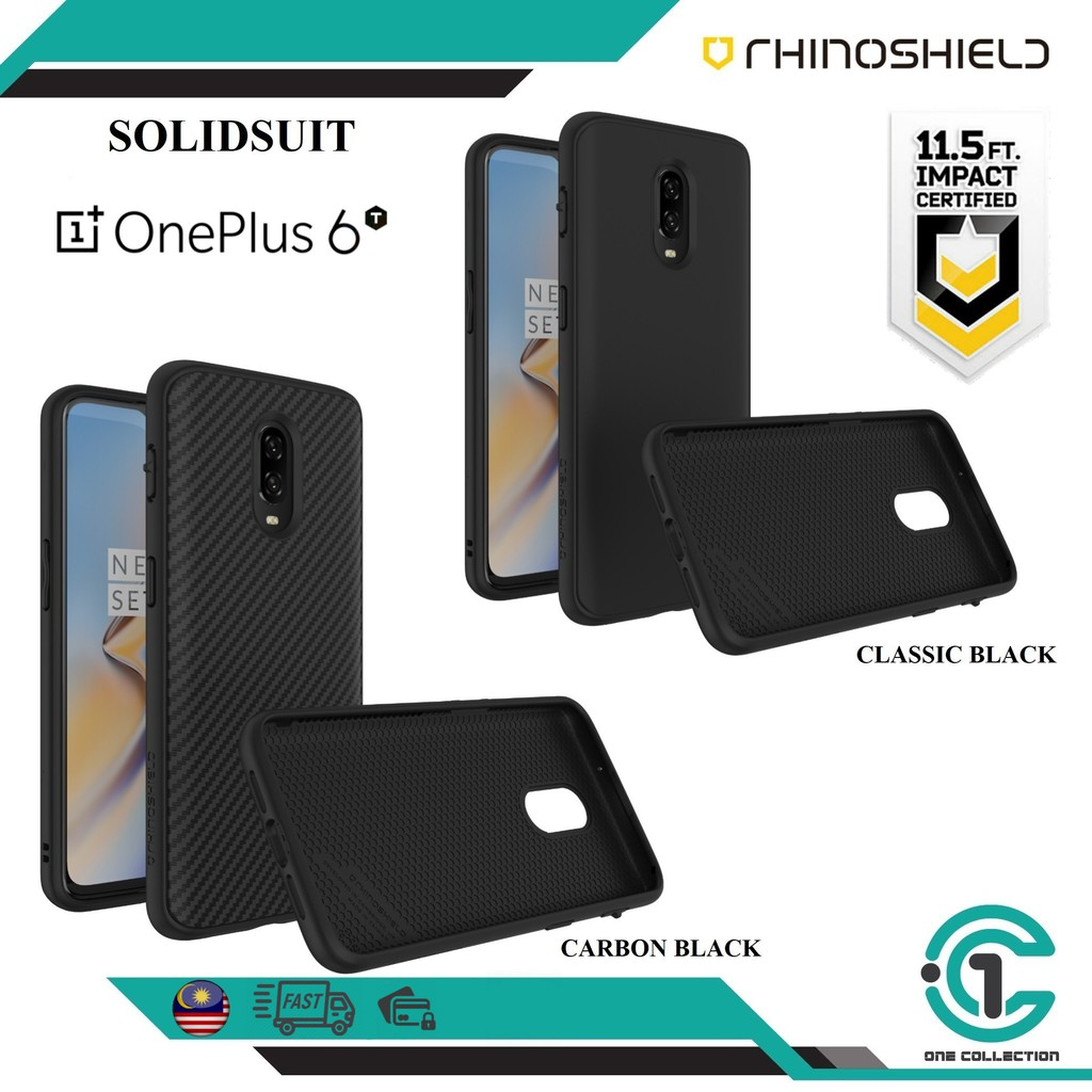 the latest d68fa 9763d OnePlus 6T RhinoShield SolidSuit Case【READY STOCK】
