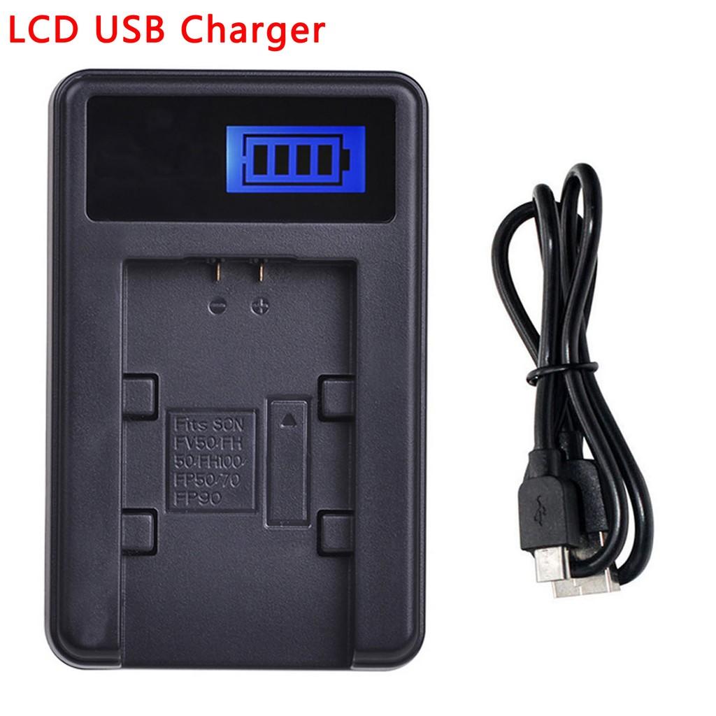 DCR-TRV355E LCD USB Battery Charger for Sony DCR-TRV315E DCR-TRV345E DCR-TRV356E Handycam Camcorder DCR-TRV325E