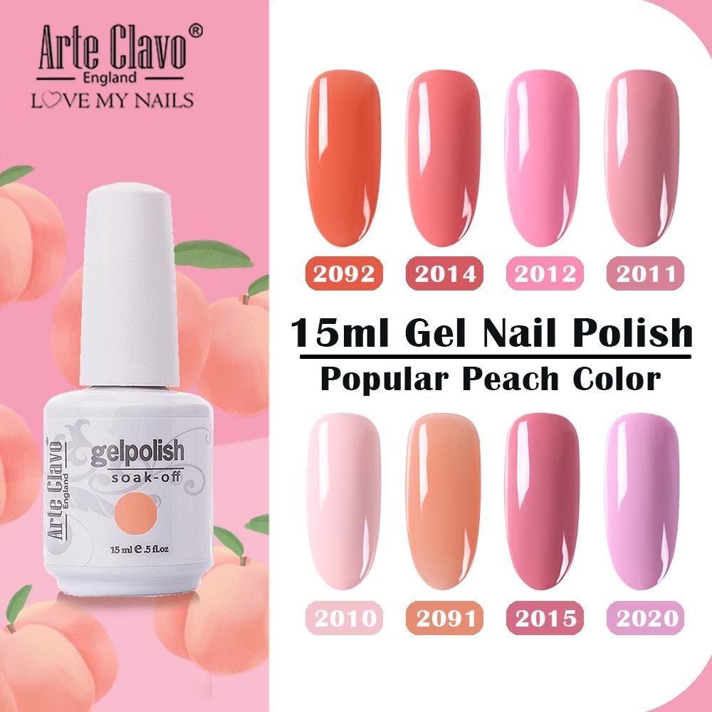 Arte Clavo 15ml Pink Color Gel Nail Polish Long Lasting Uv Led Soak Off Design Manicure Colorful Nail Art Salon Shopee Malaysia