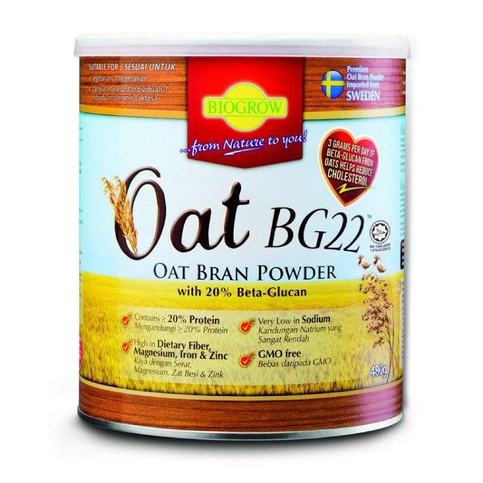 Biogrow BG22 Oat Powder 480G X 2 Tins