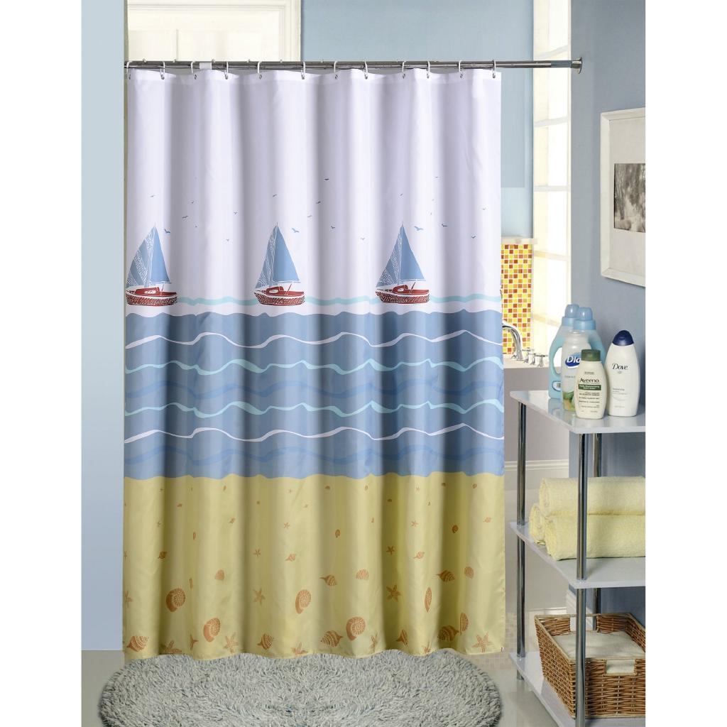 Jarlhome Jarlbc070 Cartoon Sailing Shower Curtain Hotel Waterproof Hanging Cloth Shower Curtain Customizable Bathroom