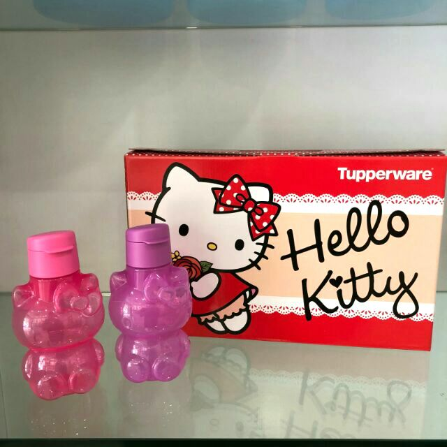 370609e0c Tupperware Hello Kitty Eco Bottle Fliptop Water Bottle 425ml ...