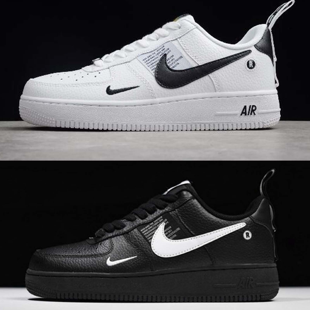 pedir en un día festivo Grabar  Nike air force 1 07 lv8 utility black / white mens shoes af1 sneakers pick  1 | Shopee Malaysia