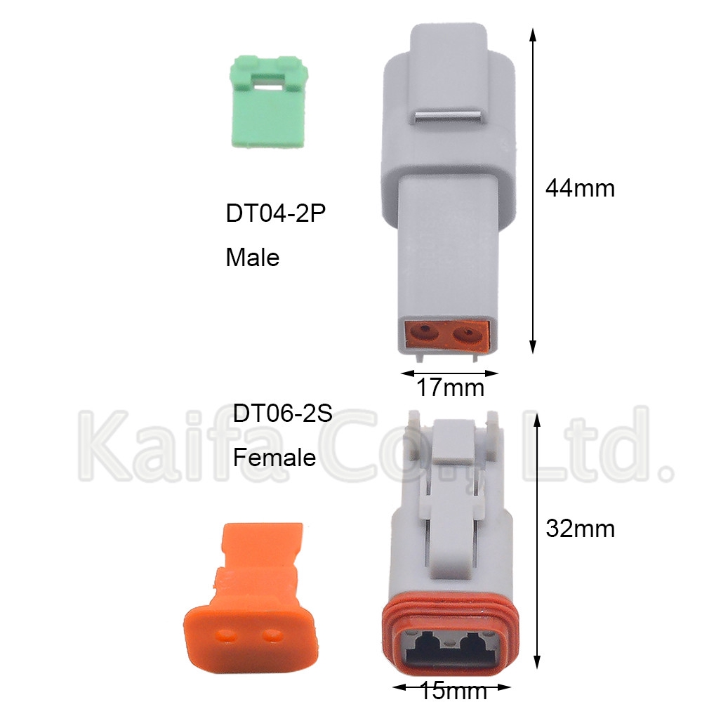 1set Deutsch DTM 2//3//4//6//8//12pin Female male  Electrical kit Wire Connector plug