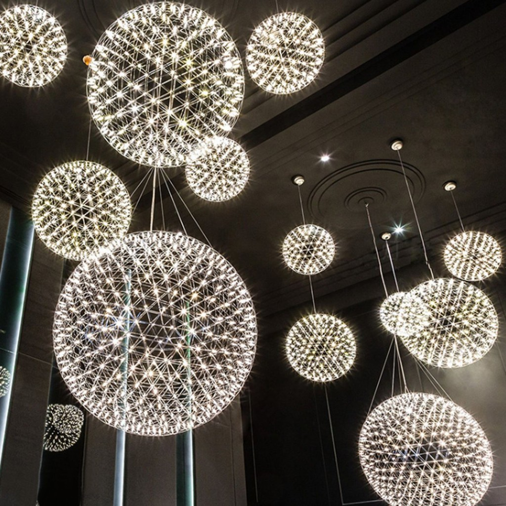 Modern LED Galaxy Spiral Crystal Chandelier Lamp Fixture Lighting Pendant Decor | Shopee Malaysia