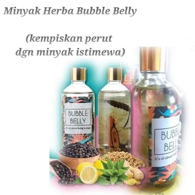 Minyak herbal bubble belly 100ml