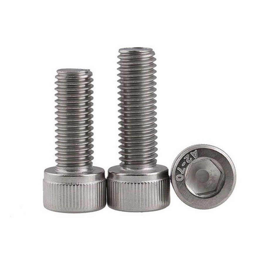 A2 STAINLESS SOCKET BUTTON HEAD SCREWS WITH FREE NYLOC NUTS M4 STEEL HEX