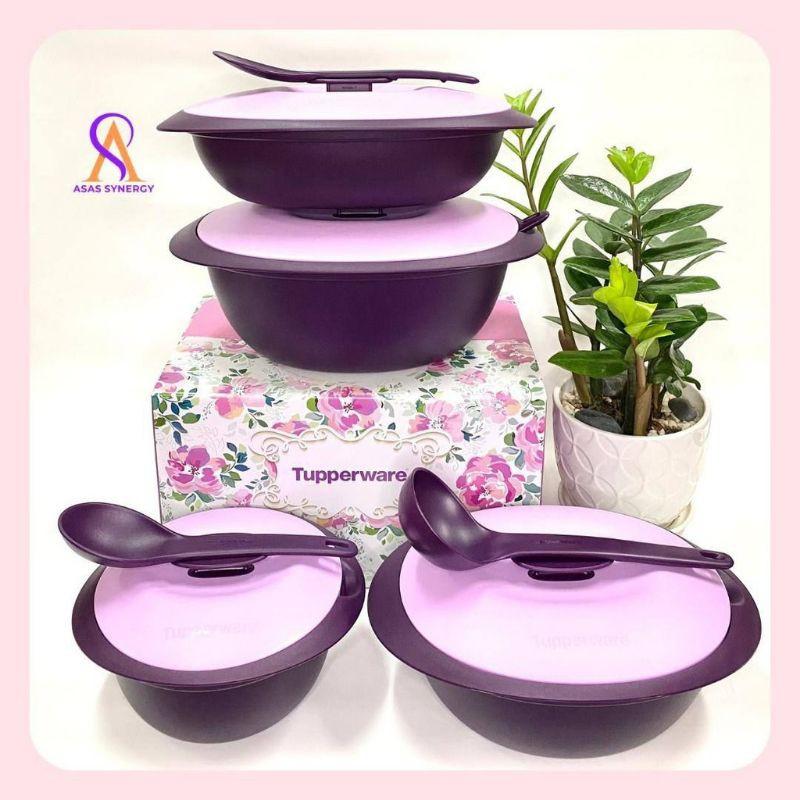 purple royale serveware Tupperware