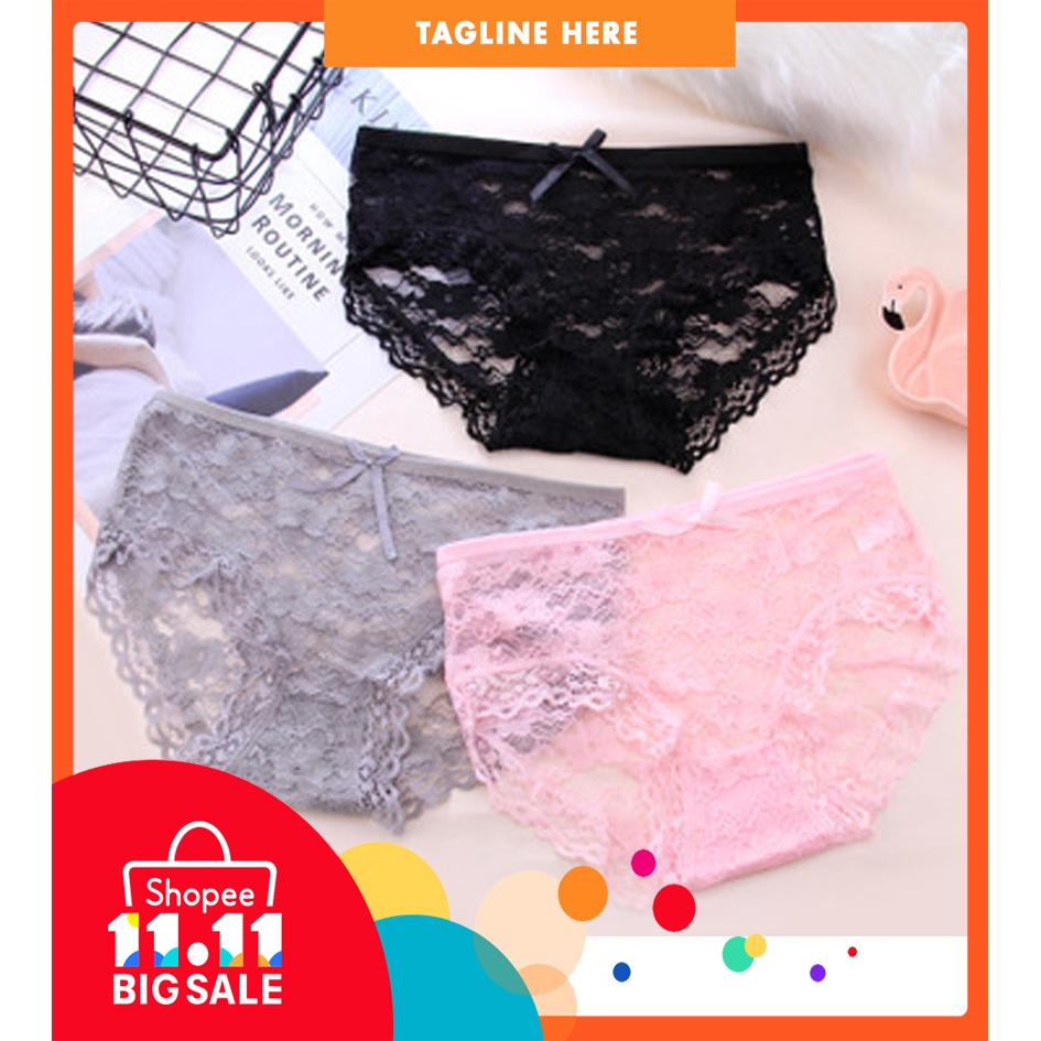 2fe47a8c87a1 Sexy Underwear Women Panties Perspective Full Transparent Panty ready stock  | Shopee Malaysia