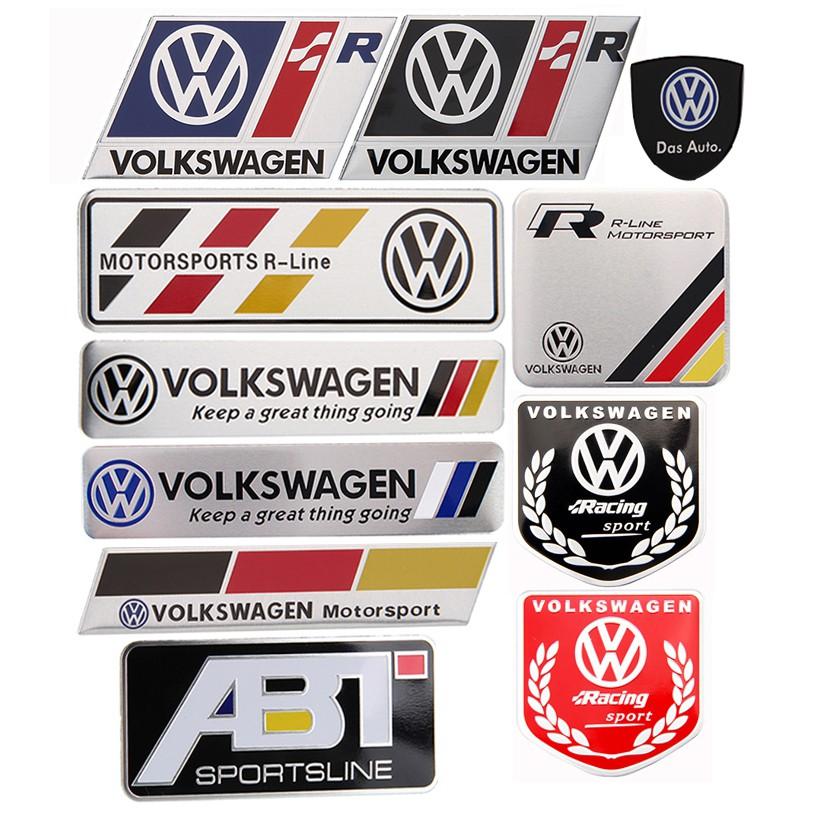 Volkswagen Motorsport Decal Sticker GTI Racing Jetta Passat turbo Pair