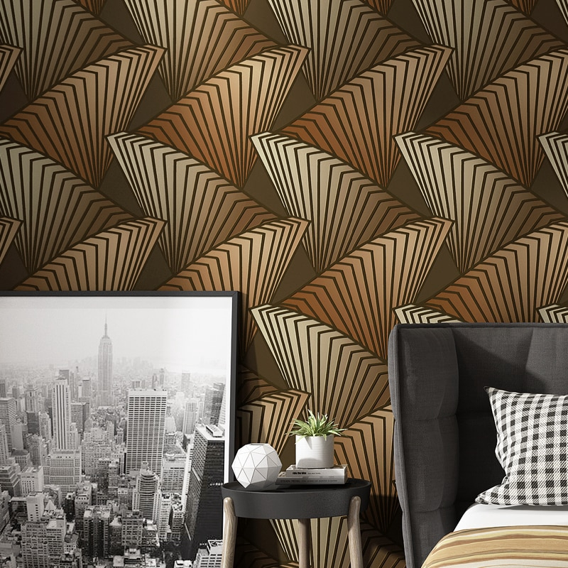 Modern Geometric Pattern Designs 3d Pvc Deep Embossed Wallpaper Living Room Bedroom Tv Background Decor Ktv Bar Wall Paper Rolls Shopee Malaysia