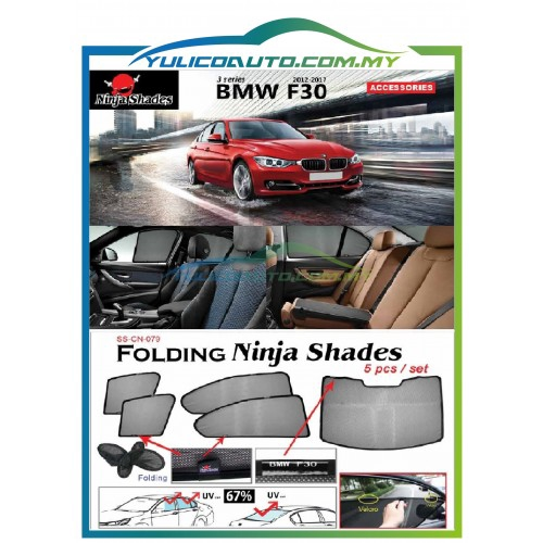 Bmw F30 3 Series Year 12 17 Magnetic Ninja Sun Shade Sunshade Premium Quality Shopee Malaysia