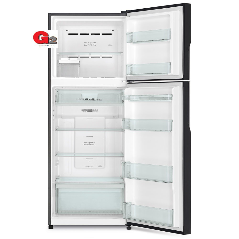 HITACHI (READY STOCK) R-V490P8M BSL 443L INVERTER 2 DOOR REFRIGERATOR