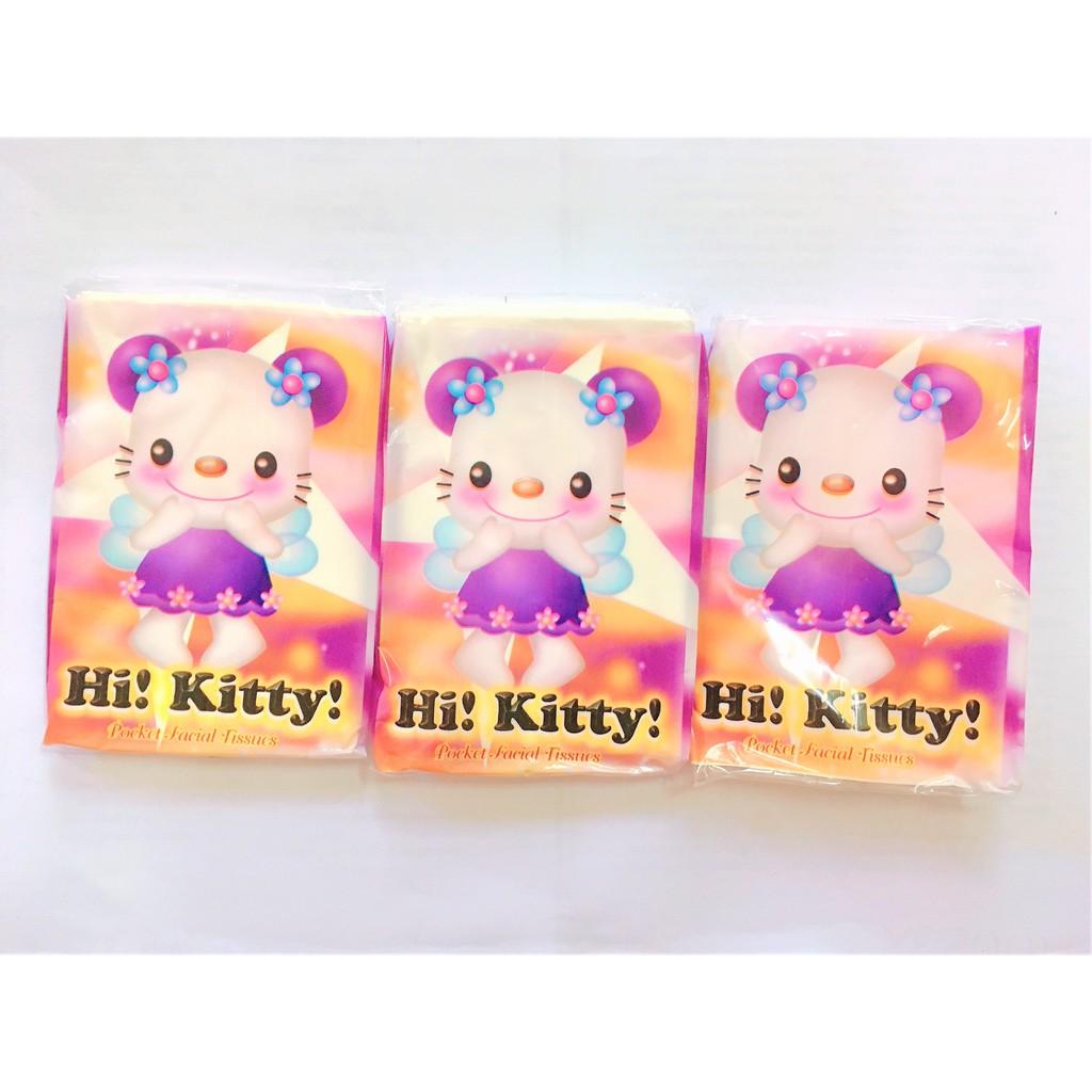Hi Kitty Pocket Tissue 2 Ply Tissue Paper 10 sheets Tissue 12 Packs Facial Tissue