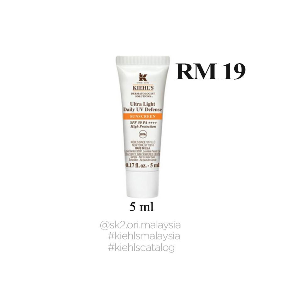 Kiehl's Ultra-Light Daily UV Defense SPF 50 PA++++ with Anti-Pollution 5ml | Shopee Malaysia