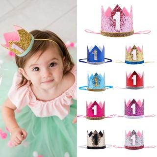 19dd2bfa2 Princess Flower Headwear Crown Hair Band 1 Years Old Baby Birthday ...