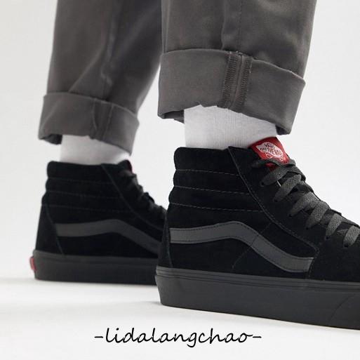 Brote Hamburguesa ayer  VANS SK8 Hi Pure Black Red Mark Men's and Women's Flipper Shoes VN-0D5IBKA  | Shopee Malaysia