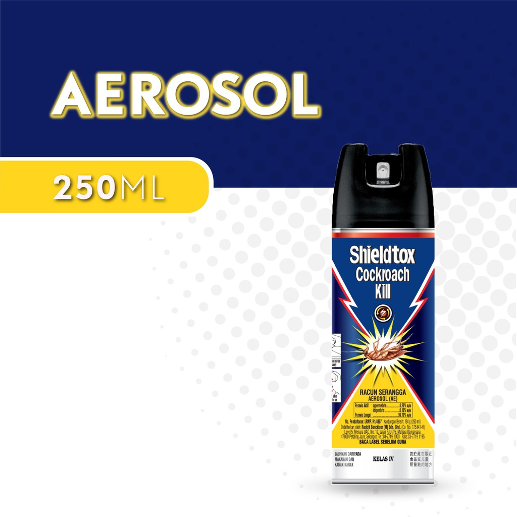 Shieldtox Cockroach Kill Spray Aerosal 570ml Shopee Malaysia Twin Pack Baygon Aerosol Natural Orange 600ml