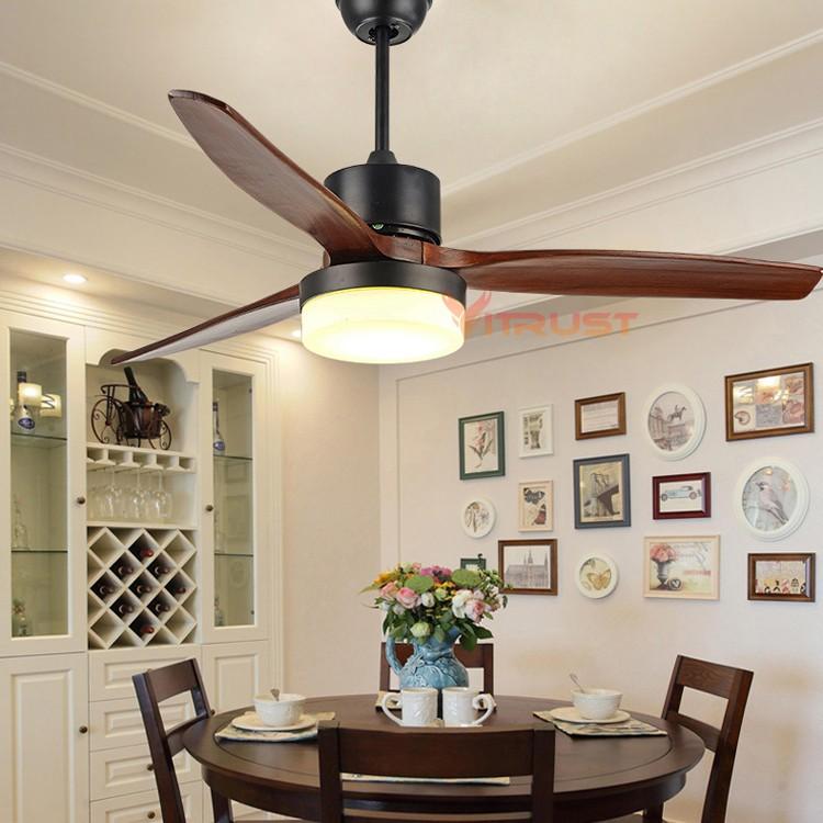 Modern Village Ceiling Fan With Led, Dining Room Ceiling Fan