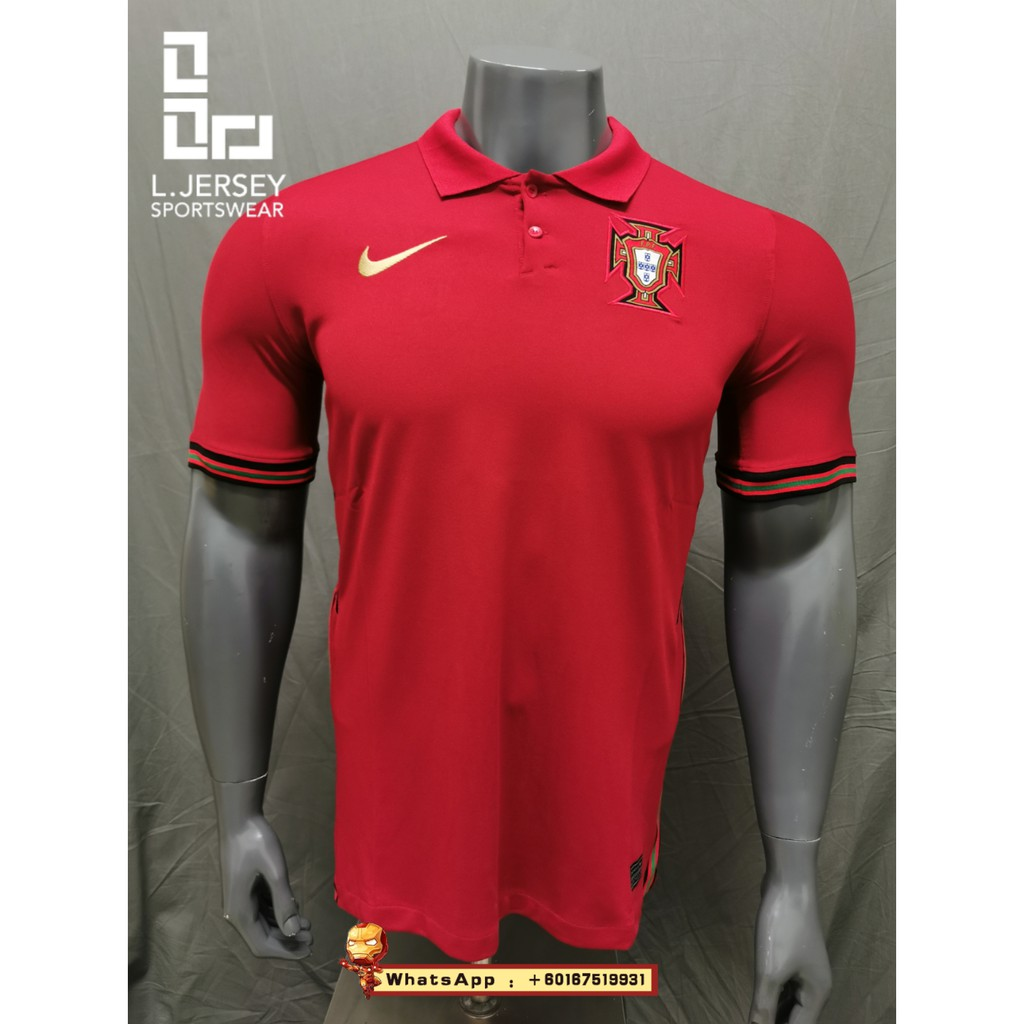 Portugal Men Home Euro Cup Season 20/21 Stadium Fans Jersey