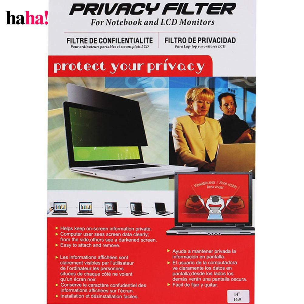 14 Inch Laptop Computer Monitor Privacy Screen Filter Anti-Glare Protector  Film