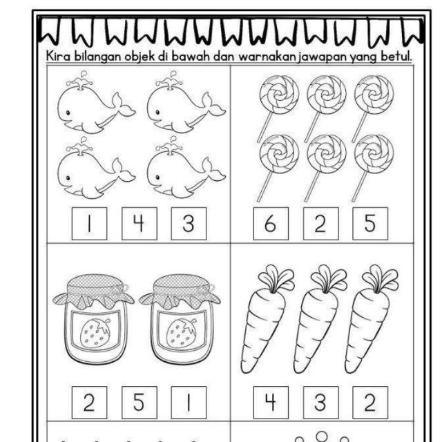 Buku Matematik Kanak Kanak Tadika Shopee Malaysia