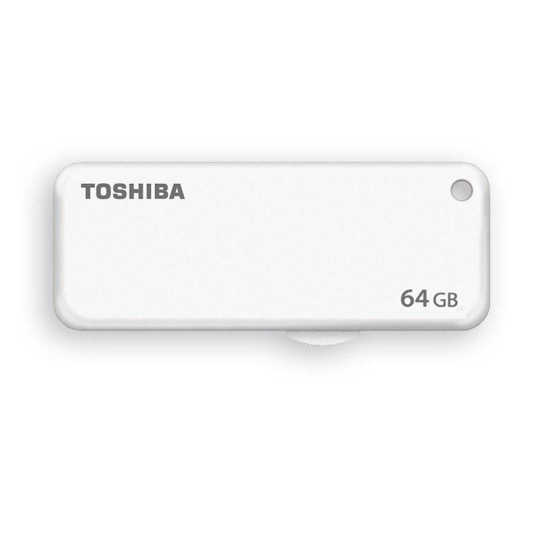 Toshiba U203 Yambiko 64GB USB 2.0 Flash Memory Drive White Color THN U203W0640
