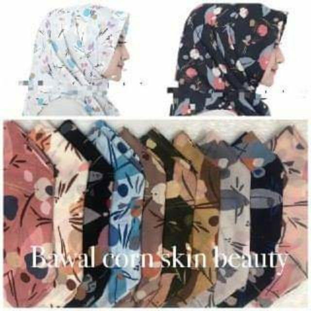 Borong Tudung Bawal Cornskin Printed Shopee Malaysia