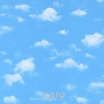 Blue Sky And White Clouds Wallpaper Ceiling Top Sky Cartoon Simple