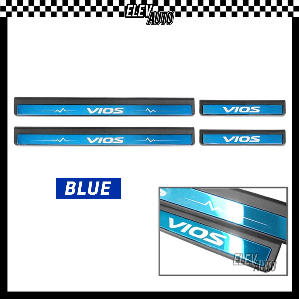 Toyota Vios 2014-2018 Colorful Door Side Sill Step Plate