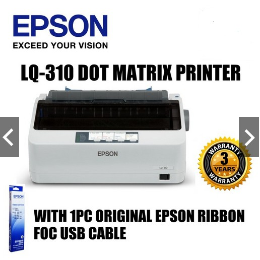 EPSON LQ-310 LQ310 Printer + 1 USB CABLE