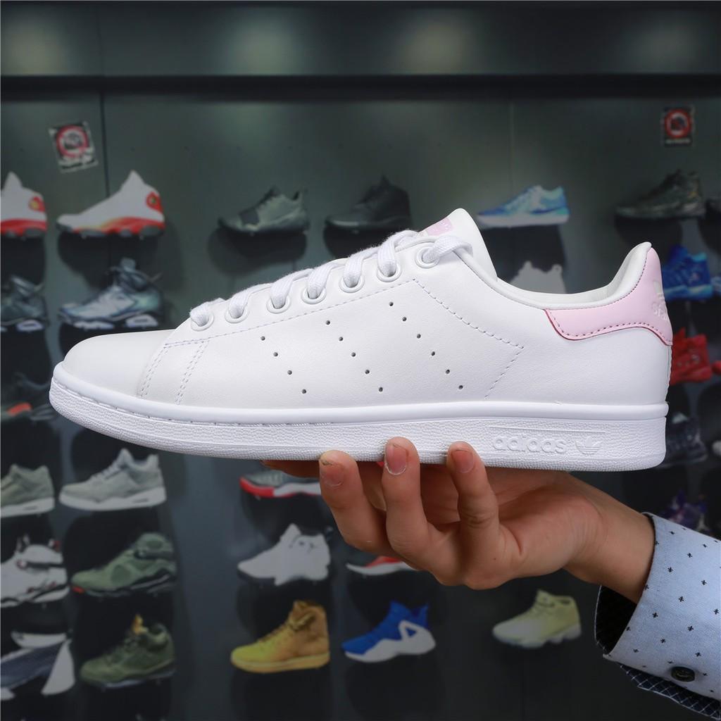nouveau concept 81d1d 6d4d3 ADIDAS ORIGINALS STAN SMITH White Pink BA9946   Shopee Malaysia