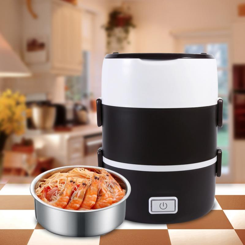 c822ac766180 Electric Heated Heating Lunch Box Set Food Warmer Container Bento Portable  220V