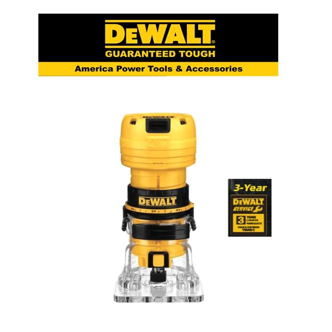 DEWALT DWE6000 -  LAMINATE TRIMMER 390W 6mm Collet