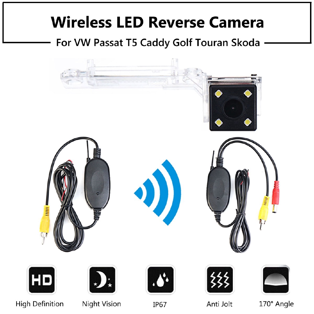 HD 170° Wireless LED Reverse Rear Camera For VW Golf Polo