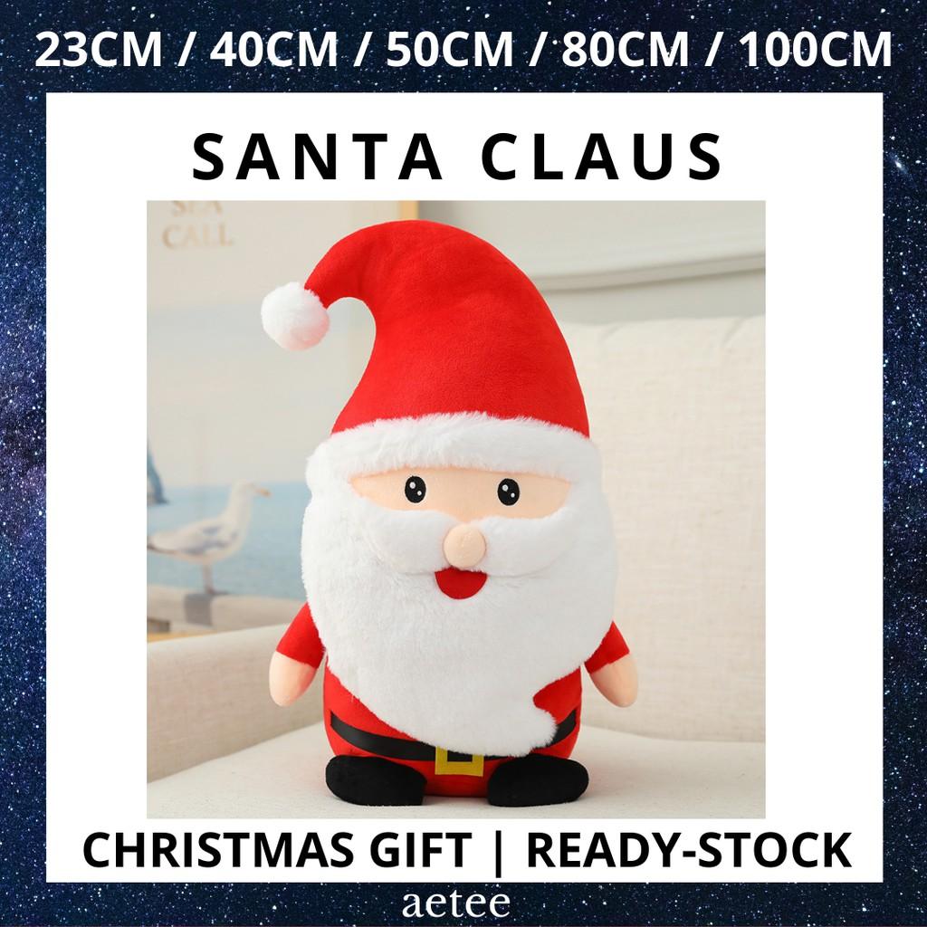 Christmas Toy | Santa Claus Plush Toy High Quality Stuffed Toys 23cm/40cm/50cm/80cm/100cm Ready-stock [aetee]