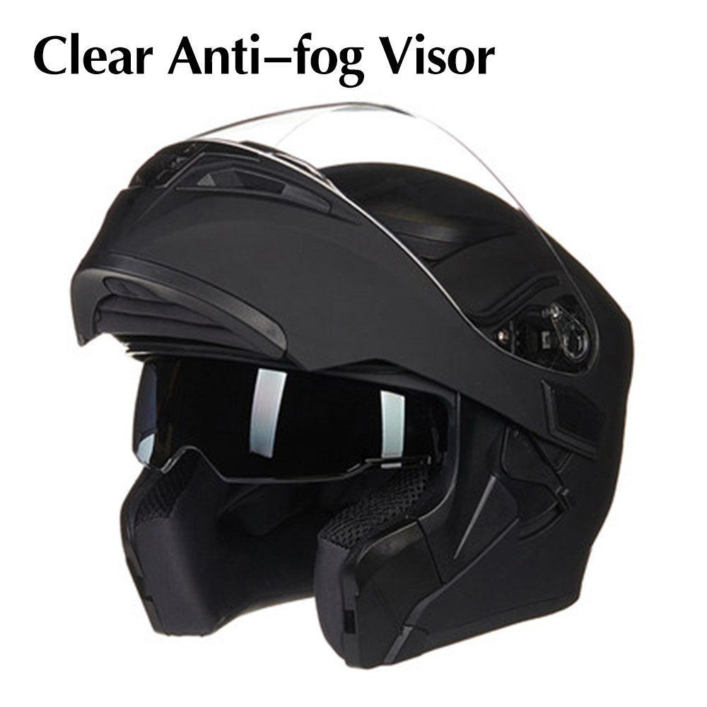e128d774 M/L/XL Flip Up Double Lens Visor Motorcycle Helmet Full Face Removable  Liner Red | Shopee Malaysia